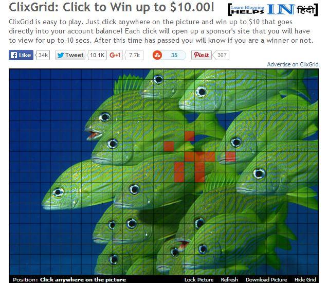 Clixgrid Game