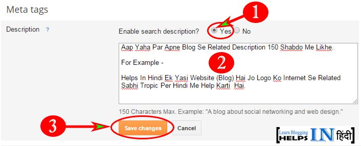 Enable Blogger Search Description- Part 2