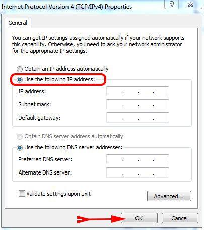 use the following ip Address