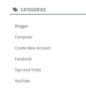 Category Widget