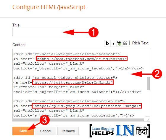 Configure HTML Java Script