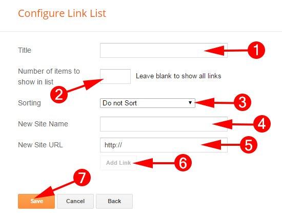 Configure Link List