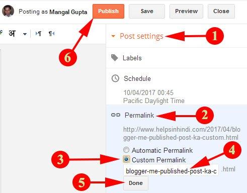 Change Custom Permalink URL