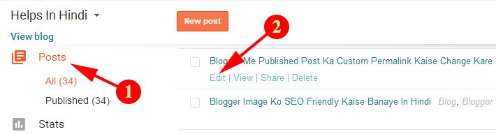 Choose Your Post For Change URL