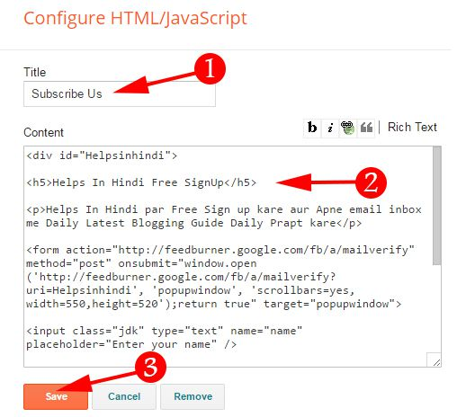 Paste Your Code In HTML JavaScript