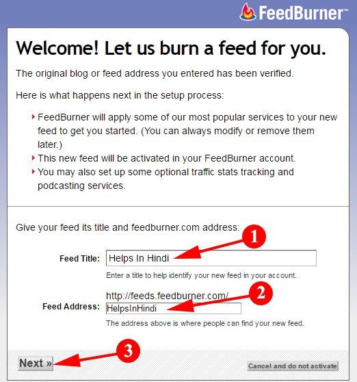 Set Your Blog Title And feedburner URL