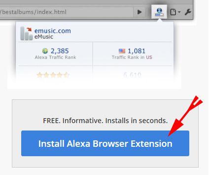 Clcik On Install Alexa Browser Extension