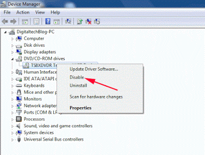 Disable Device Manager