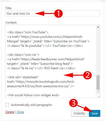 Paste Your Social Widget Code