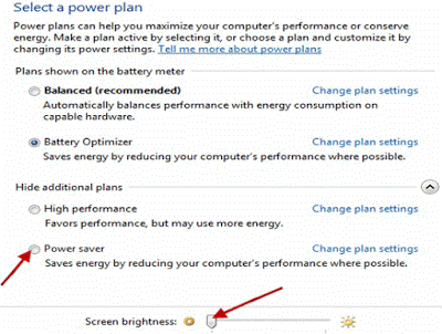 Power Saving Plan Option