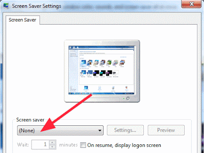 Screen Sever Settings