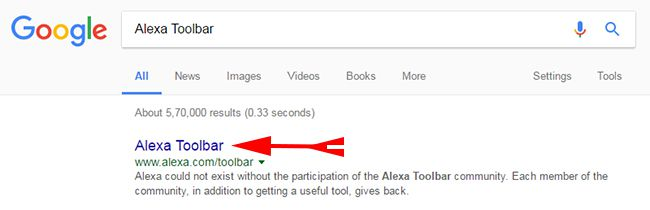 Search Alexa Toolbar
