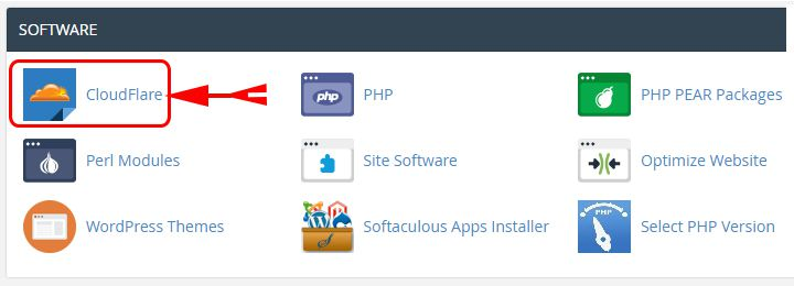 Click On Cloudflare Icon