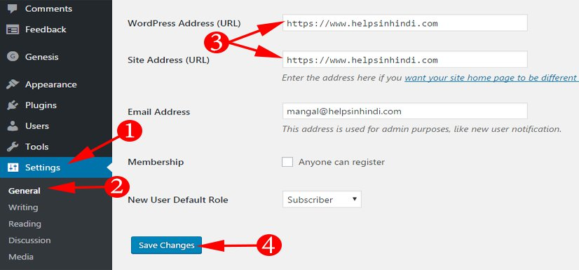 Redirects HTTP URL With HTTPS In WordPress