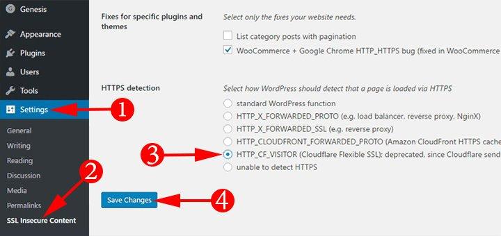 SSL Insecure Content Fixer Setting