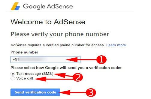 mobile-number-verification for adsense