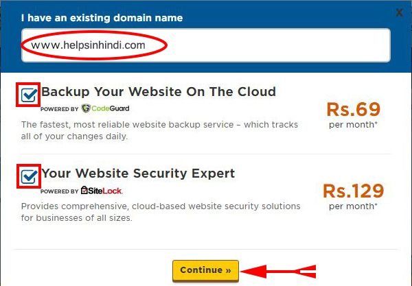 Add Your Domain Name For Buying Hosting