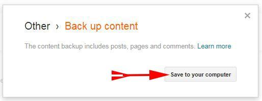 Download Your Blog Backup
