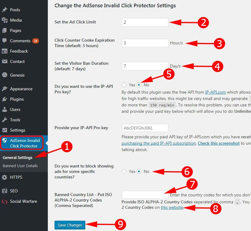 AICP Plugin Setting For Save Adsense Account