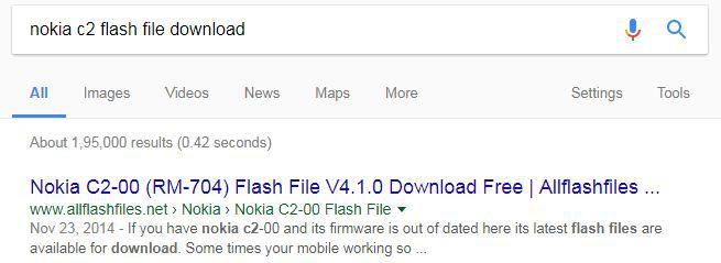 Download Nokia C2 Flash file