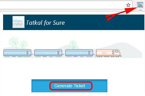 Generate Tatkal Ticket