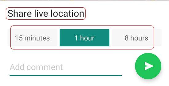 WhatsApp Share Live Location