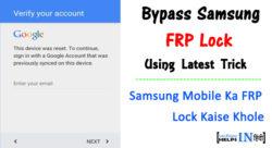 Bypass Samsung FRP Lock