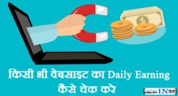 Kisi Bhi Website Ki Daily Earning Kaise Check Kare