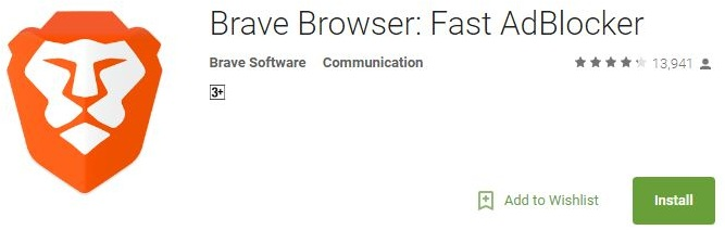 brave browser for faster-safer and ad-free browsing