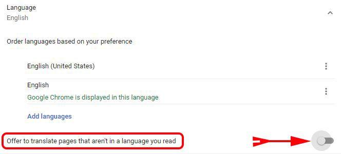Chrome browser me Translate this page ko disable kaise kare