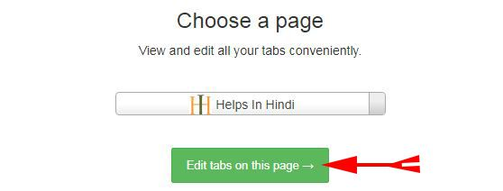 Click on Edit tabs on this page