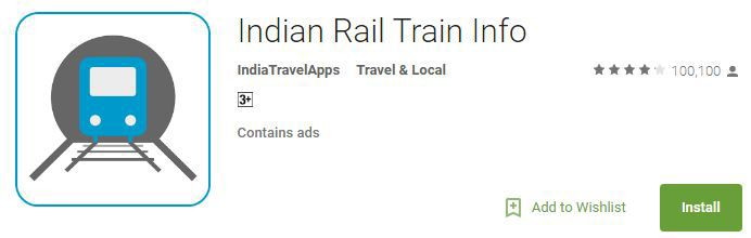 Indian Rail Train Info