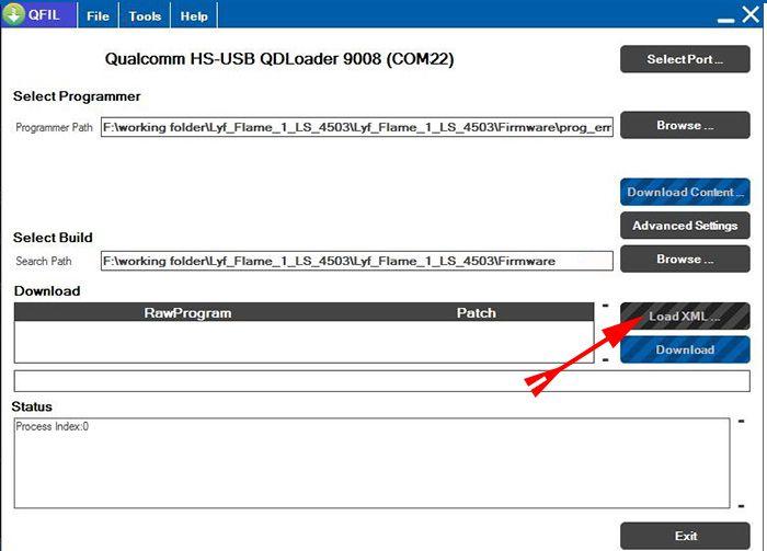 Load XML button ke upper click kare