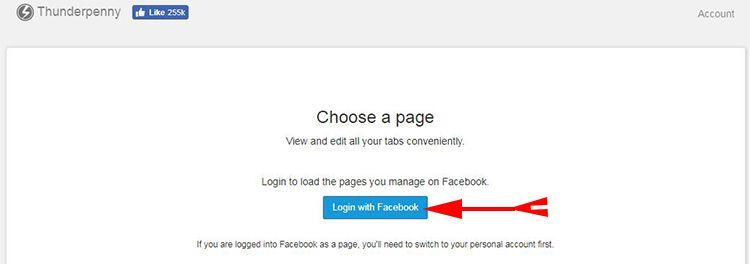 Login with Facebook ki buttopn par click kare
