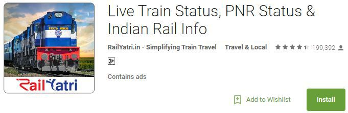 Rail Yatr Indian Railways app