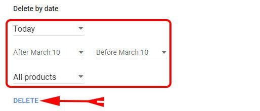 Delete Google Search History