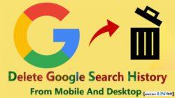 Google history delete all