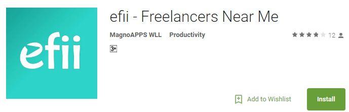 efii - Freelancers Near Me App