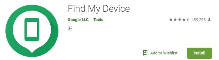 Find My device app by google
