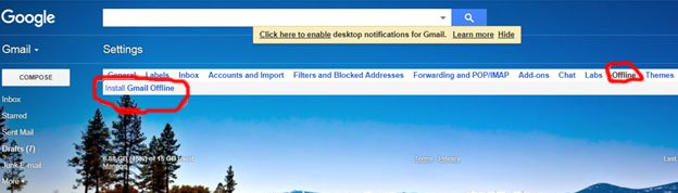 install gmail offline par click kare