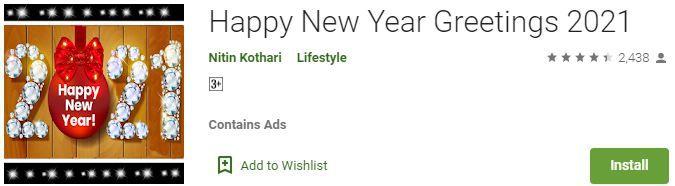 Happy New Year Greetings 2021