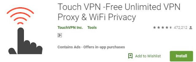 Touch VPN -Free Unlimited Android App