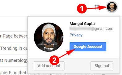 Click on Google Account