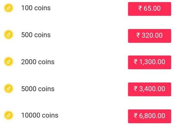 Tik-Tok-Coin-Price-List
