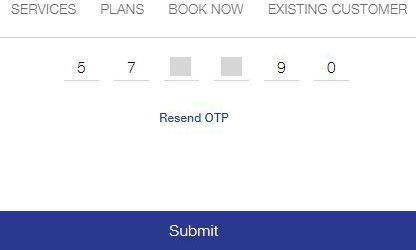 Submit OTP Number