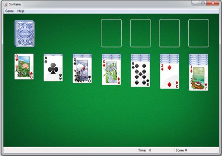solitaire game develop by intern Wes Cherry
