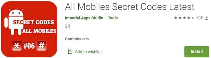 All Mobiles Secret Codes Latest app