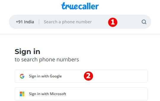 Change name in Truecaller using web portal