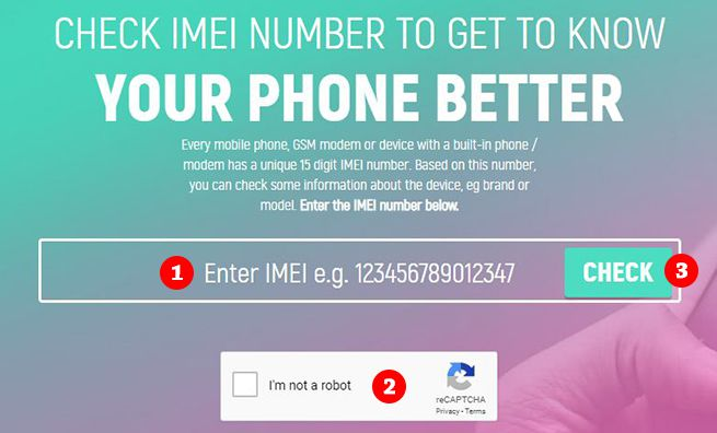 Free Online IMEI Number Checker Website