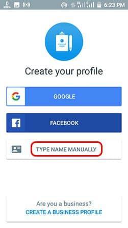 Truecaller me naam badle Type Name Manually